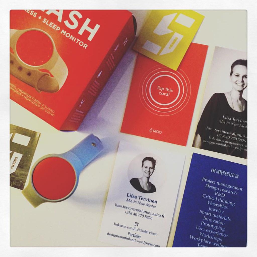 Slush virgin here: new Moo NFC business cards, Slush badge… | Flickr