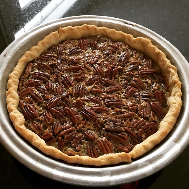 Maple bourbon pecan pie. #thanksgivingpie