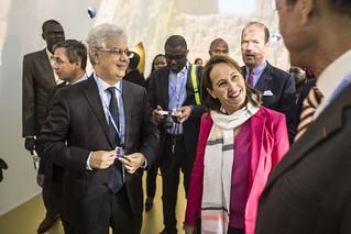 COP22 : Visite du Pavillon Afrique par la Ministre Ségolène Royal, COP22 Marrakech, 08 novembre 2016
