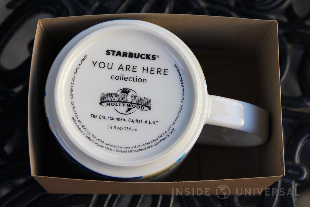 "Universal Studios Hollywood-themed ""You Are Here"" Starbucks mug released"