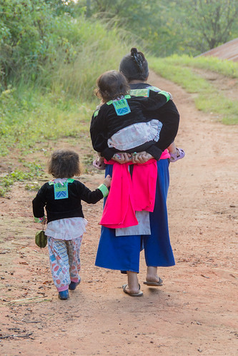 Hmong mother and children