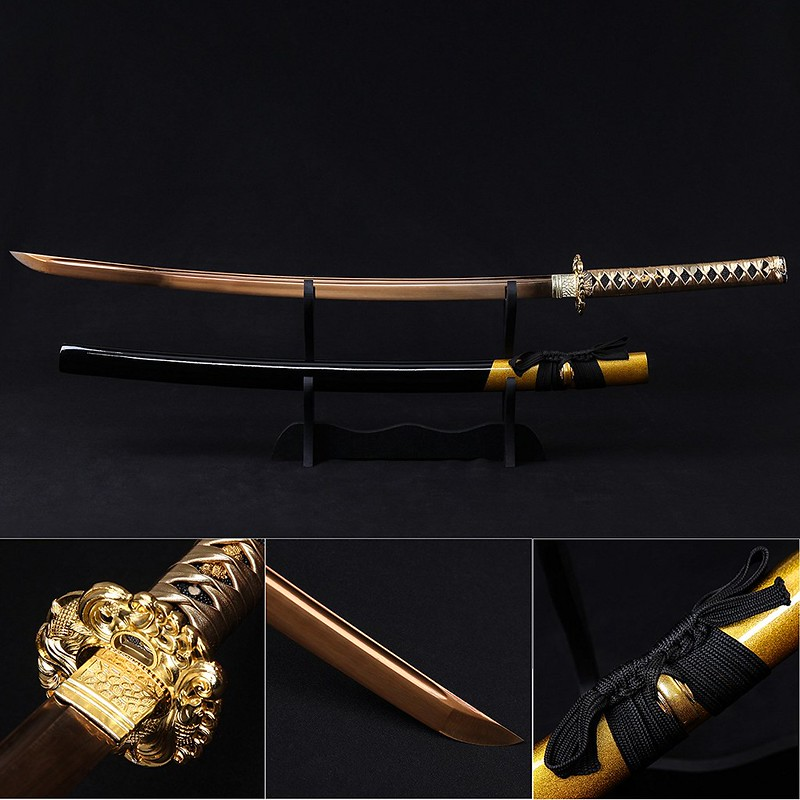 Samurai-sword-handmade-carbon-steel-katana