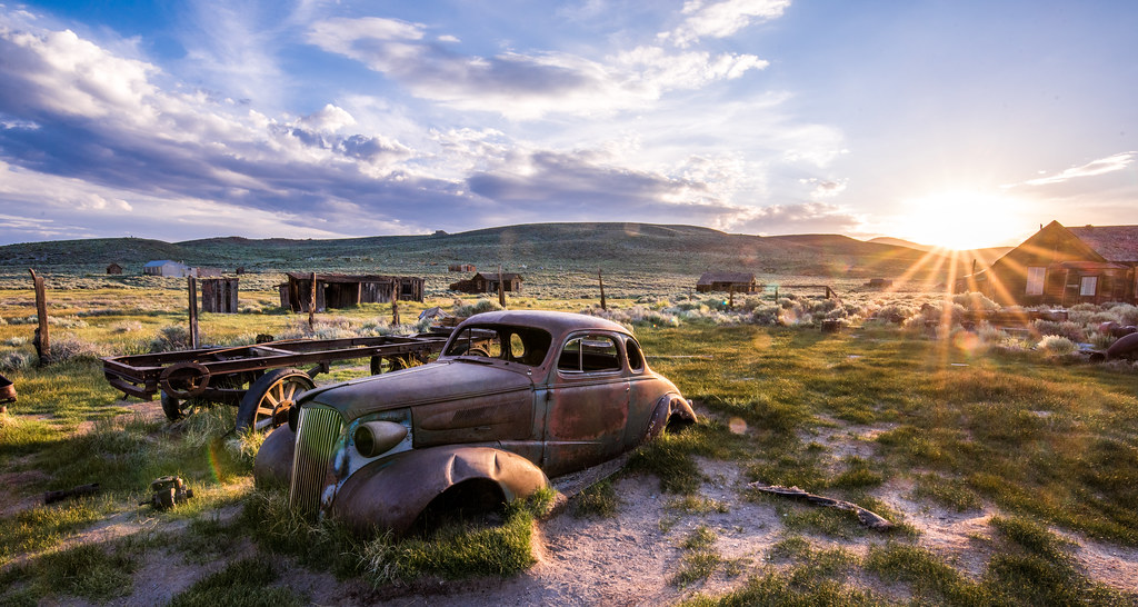 Old Classic Car: Bodie Ghost Town in a Breaking Thundersto…   Flickr