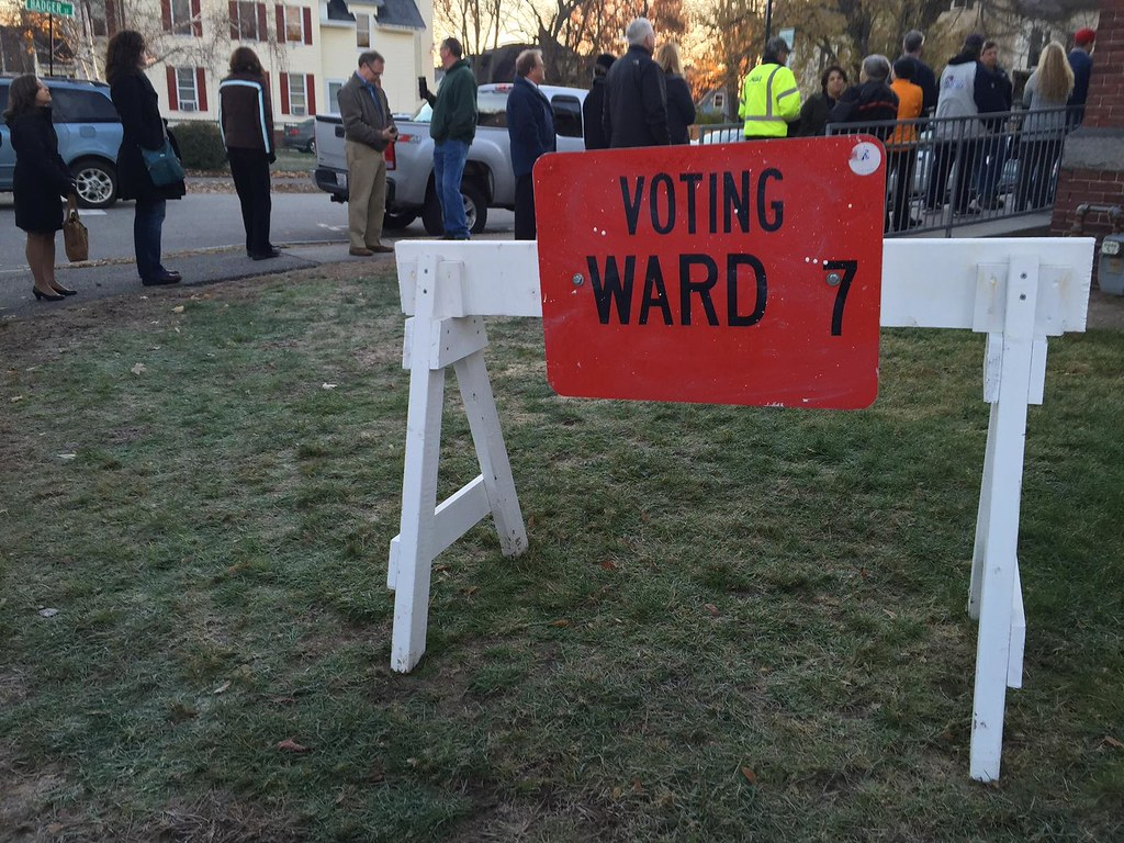 ... Long lines in Concord NH | by New Hampshire Public Radio