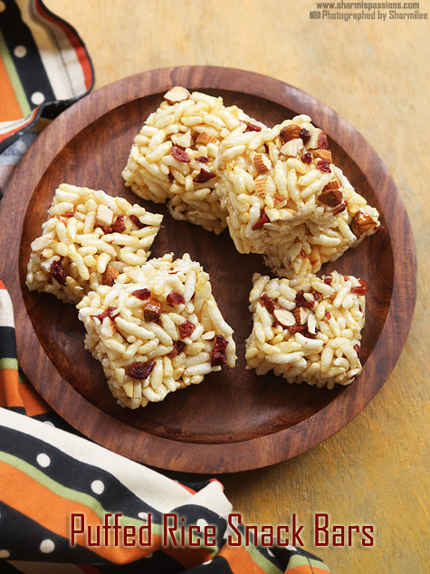 Puffed Rice Snack Bar Recipe
