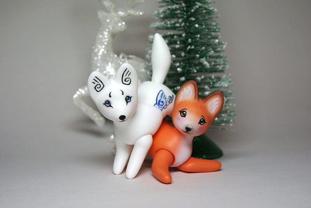 arctic fox and red fox