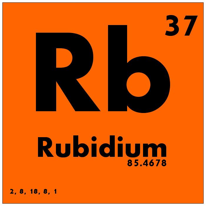 037 Rubidium Periodic Table Of Elements Watch Study Guid Flickr
