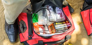 Zambia Live Well Agent's bag with Kit Yamoyo