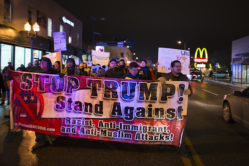 Protest march against Donald Trump