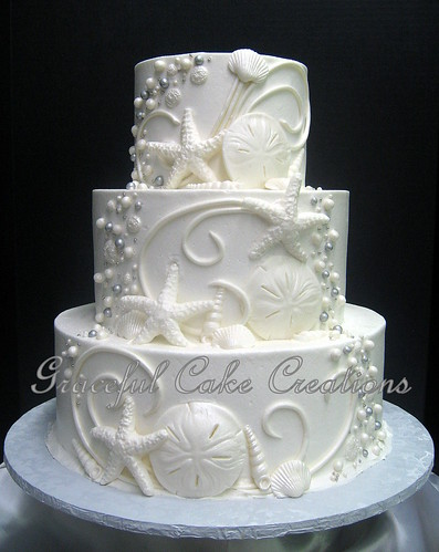elegant beach themed wedding cakes themed white butter wedding cake with 13956