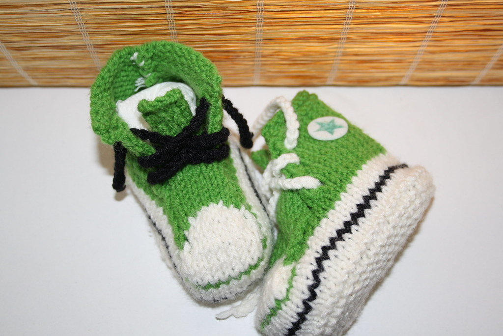 Baby Chucks Strickanleitung Für Babyschuhe Im Stil Von Con Flickr