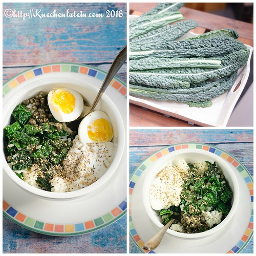 Kale Rice Bowl Collage
