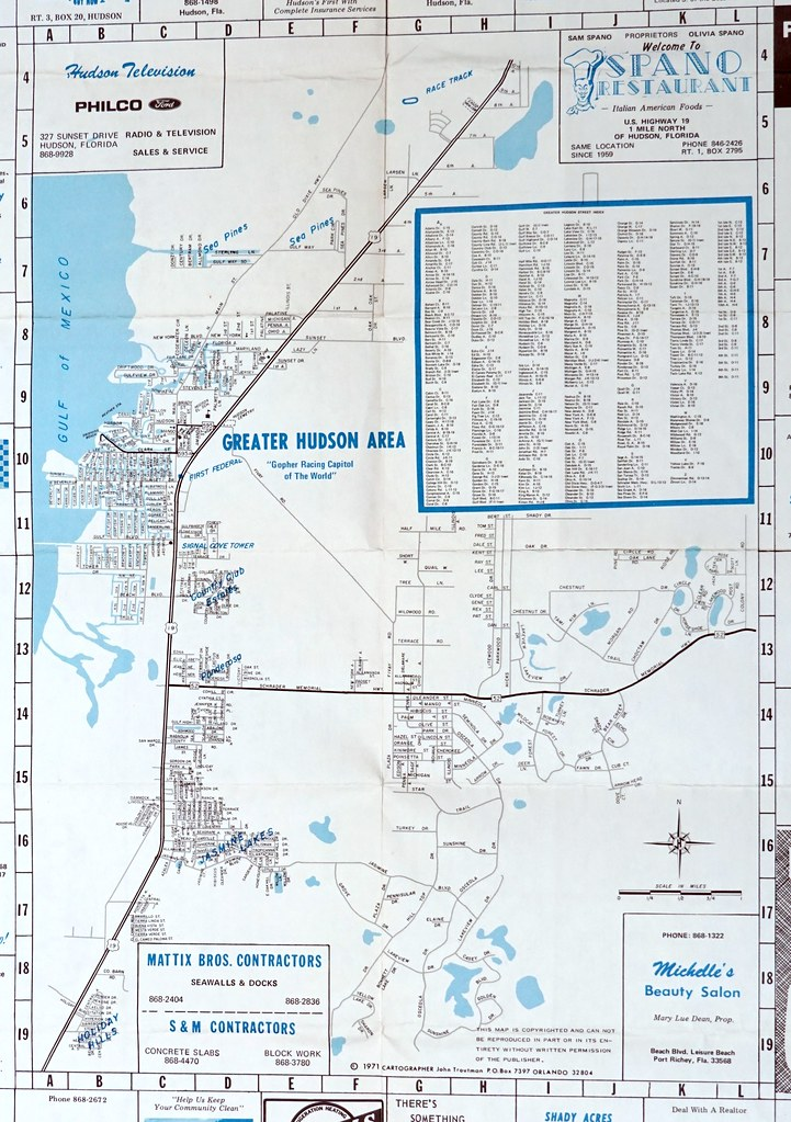 Hudson Florida Map.Map Of Great Hudson 1971 7101 Jeff Miller Flickr