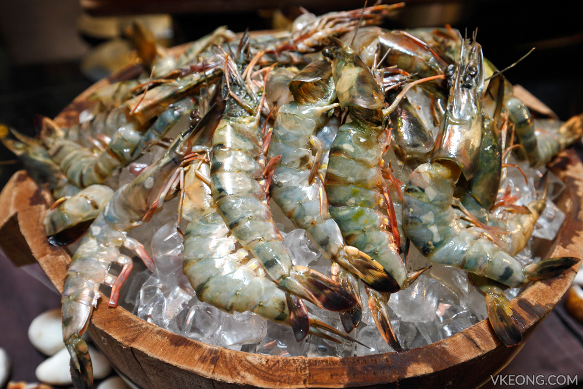 Edge Hilton Pattaya Buffet Tiger Prawns
