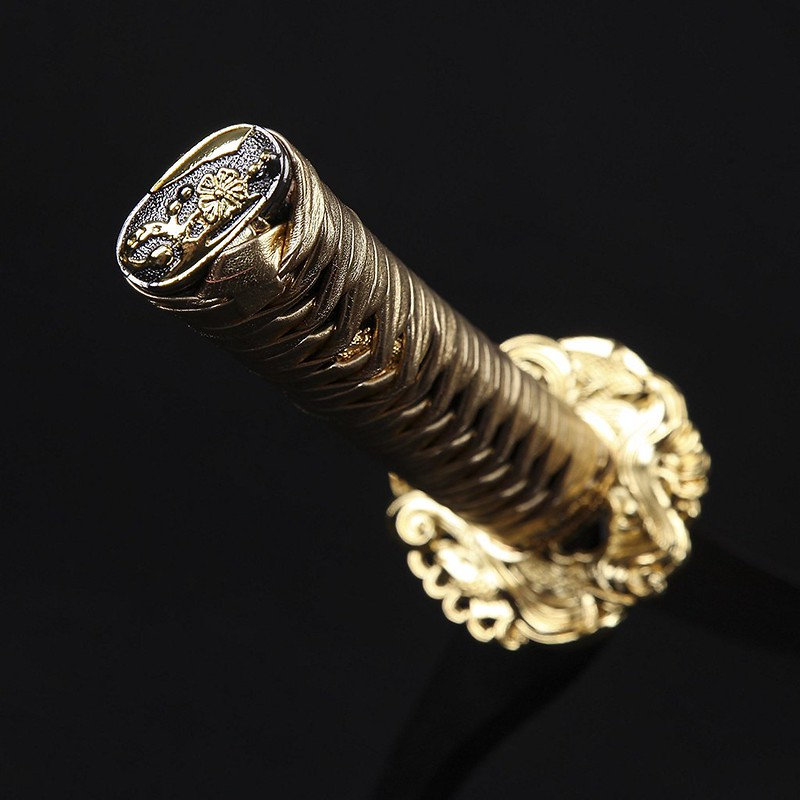 Samurai-sword-handmade-carbon-steel-katana-knob