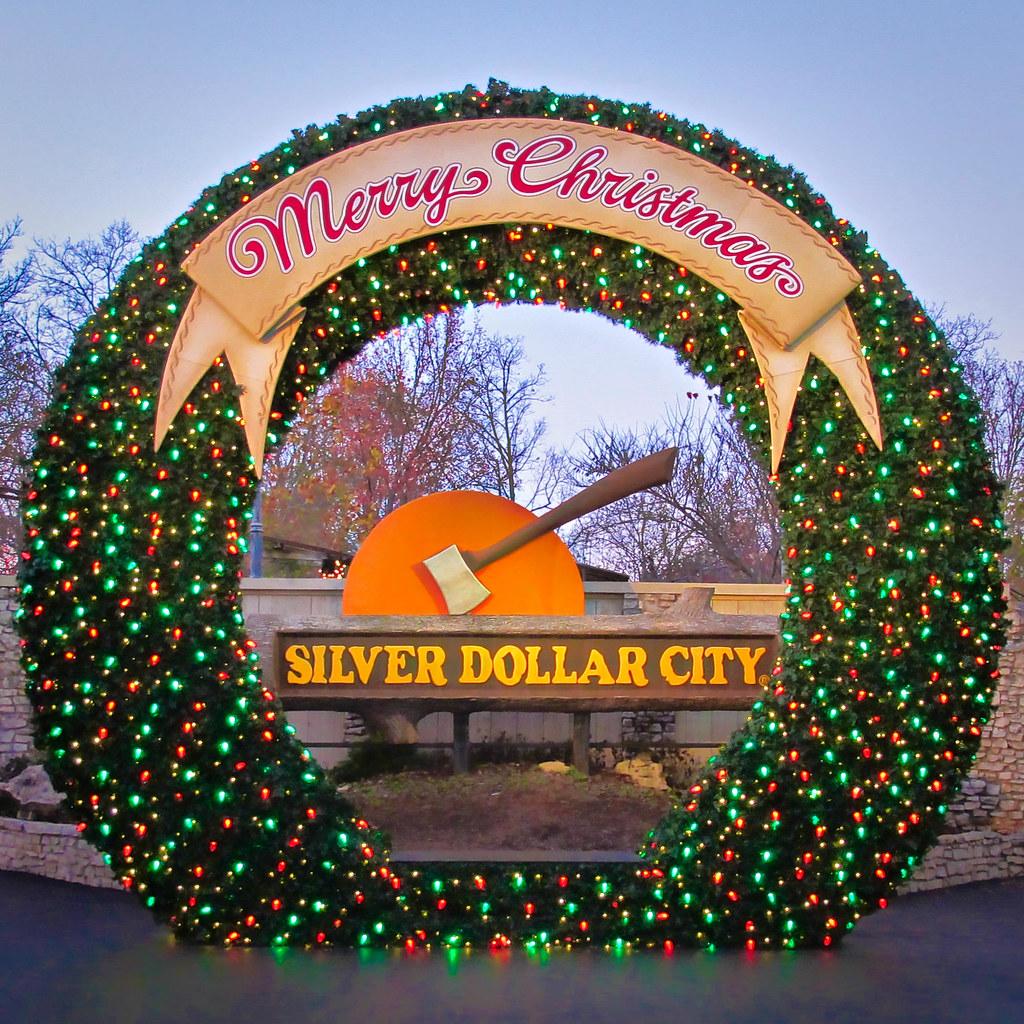 silver dollar city christmas wreath by nncynnce - Silver Dollar City Christmas