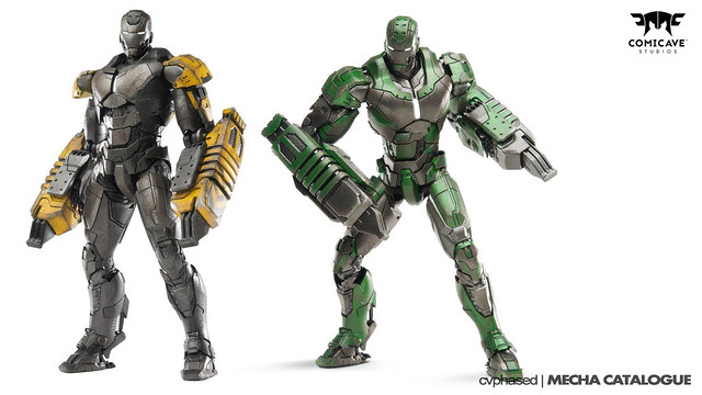 "Comicave Studios - Omni Class 1/12 Iron Man Mark 25 ""Striker"" & Mark 26 ""Gamma"""