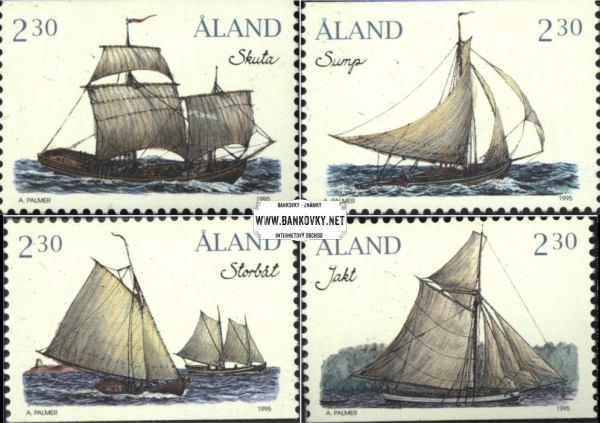 Známky Alandy 1995 Plachetnice, razítkovaná séria