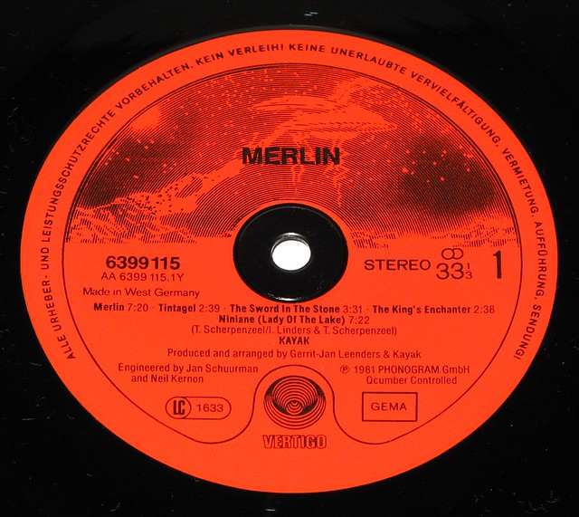 "KAYAK MERLIN 12"" vinyl LP"
