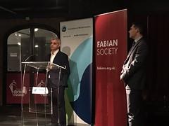 Sadiq Khan en Fabian Society