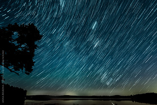 Some star trails at Lake Massabesic | by Sciuro
