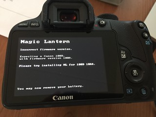 Magic lantern install | by koenkooi