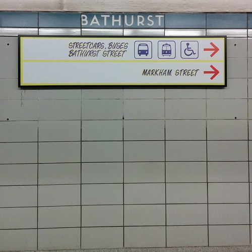 Bathurst eastbound #toronto #ttc #bathurst #honestedstation #honesteds #signs