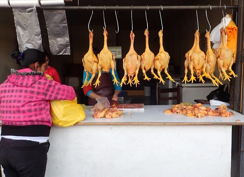 Pollería (mercado de Huaraz).
