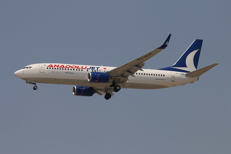 TC-SCE 737-800 Anadolujet AYT 25.7.15