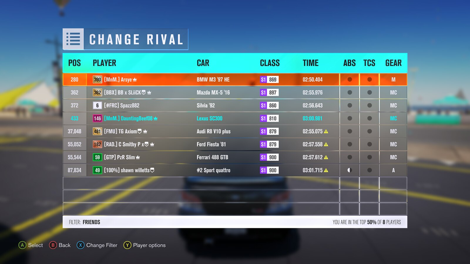 (FH3) RWD/FWD Restricted Reservoir Trail Attack (Results Up) 30997203696_0c12d2c3cf_h