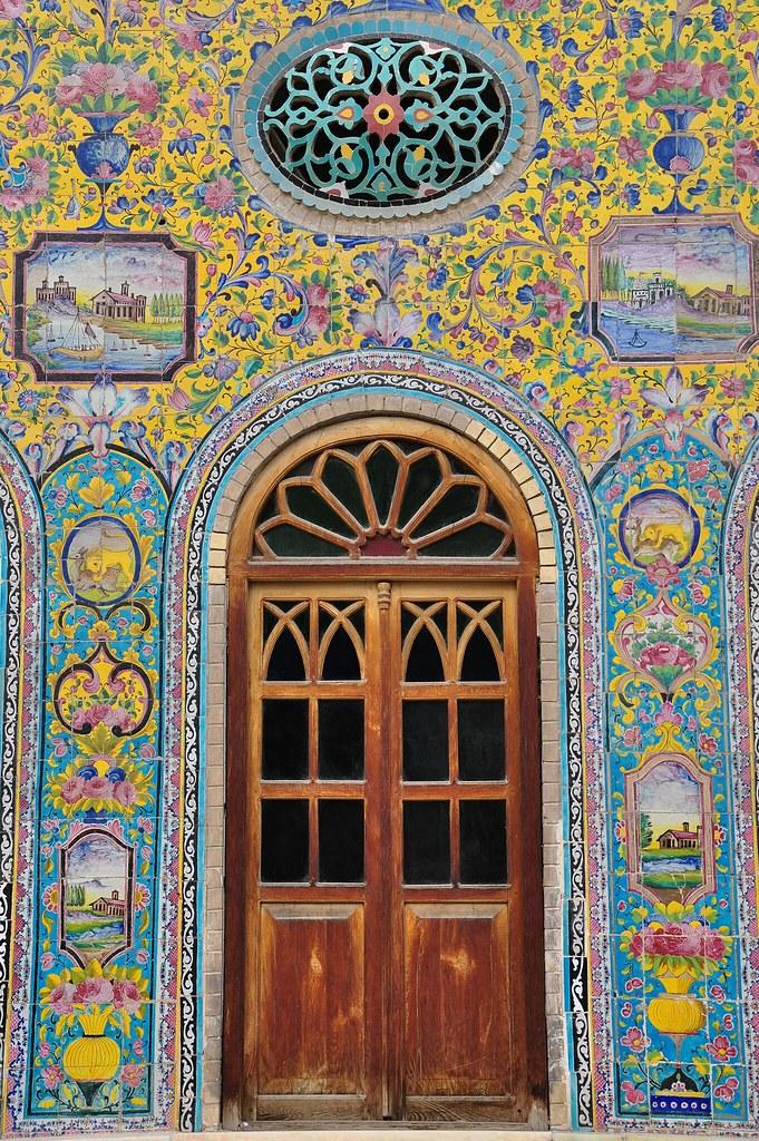 ... Persian Tile Wall Art | by daeijan  sc 1 st  Flickr & Persian Tile Wall Art | Golestan Palace Tehran | Flickr