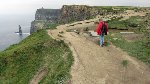 A Walk Along the Pathways of the Cliffs of Moher in Ireland