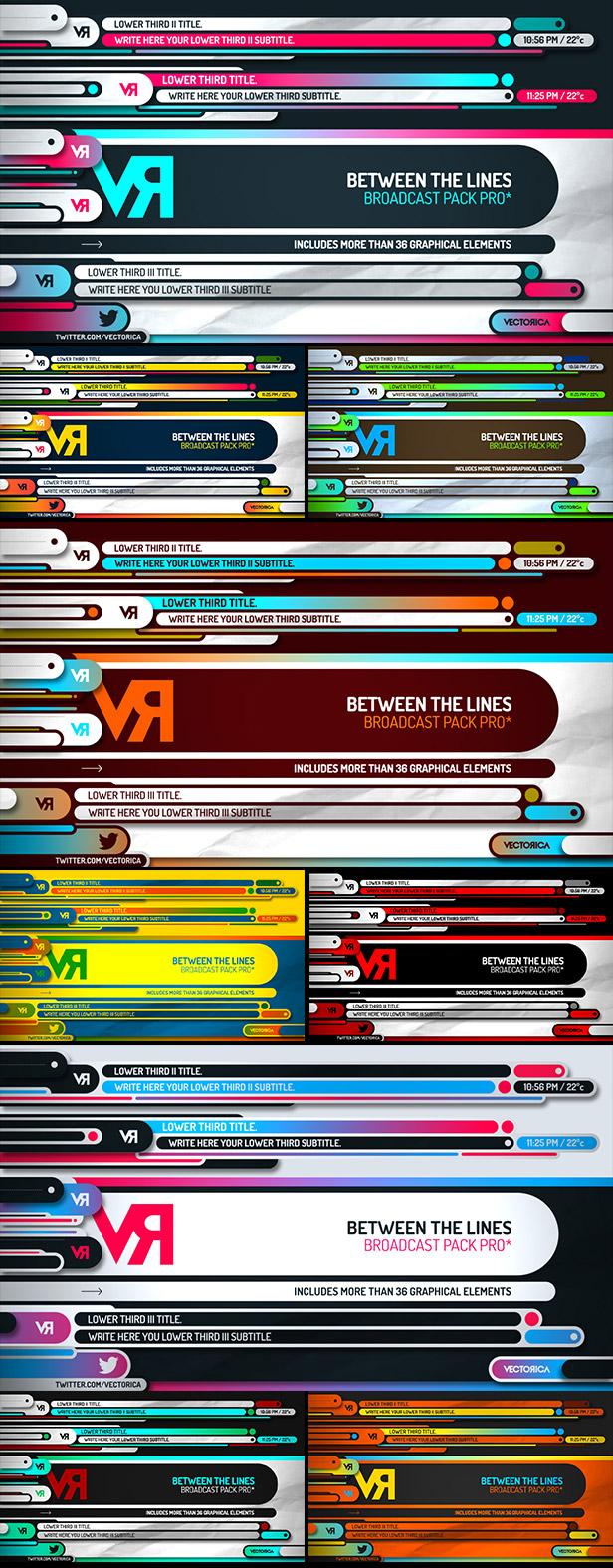 Between Lines colors