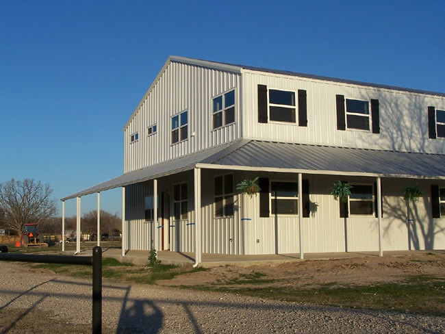 Miller barndominium flickr for Houses built out of metal buildings