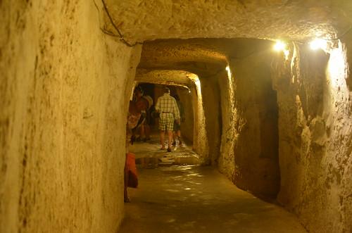 Frischer Felsengang an der Befestigungsmauer der Zitadelle