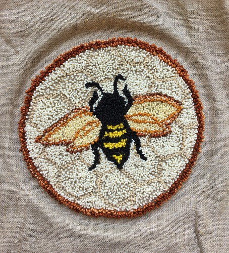 Needlepunch embroidery bee | by Twill Power