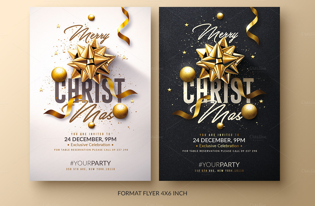 Christmas invitation psd package flyer templates created flickr christmas invitation psd package by rome creation stopboris Choice Image