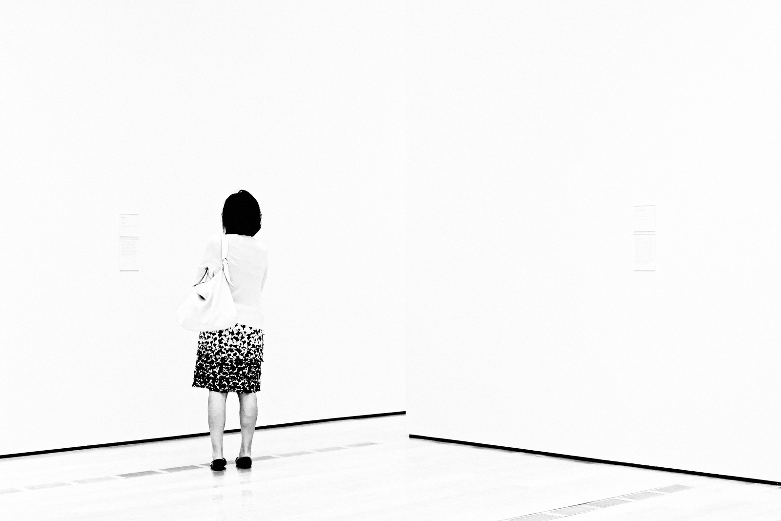 Woman in Black and White Skirt, 2015