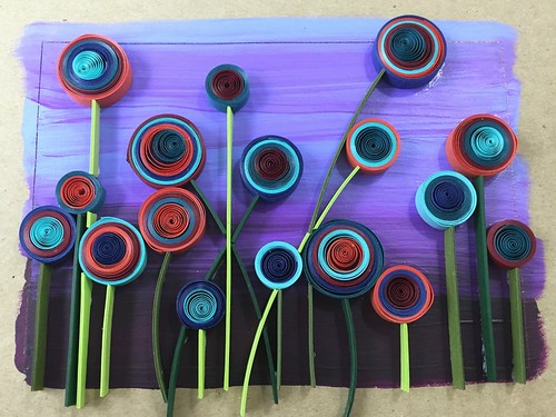 On Edge Card Stock Quilling Paper Strip Flower Stems