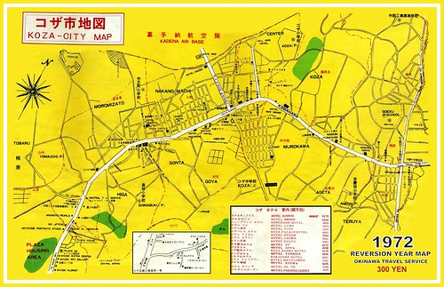 Look Up A Number >> 1972 REVERSION YEAR MAP OF CENTRAL KOZA CITY, OKINAWA | Flickr