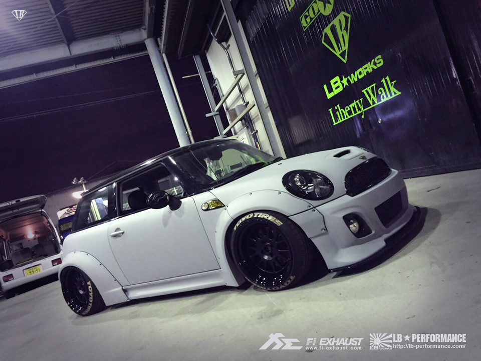 Liberty Walk Mini Cooper S R56 With Fi Exhaust