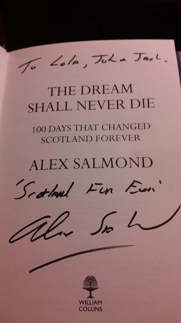 Alex Salmond-en dedikatoria
