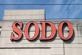 SODO sign on USPS parking garage | by SounderBruce
