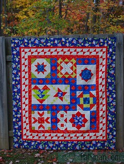 pat sloan vacation time final quilt navy | by quilterpatsloan