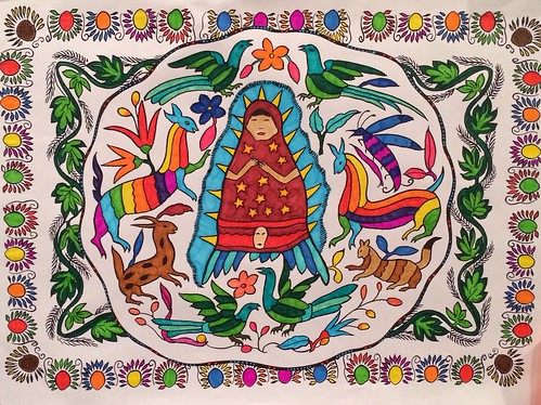 Coloring la Virgencita | by cindylu