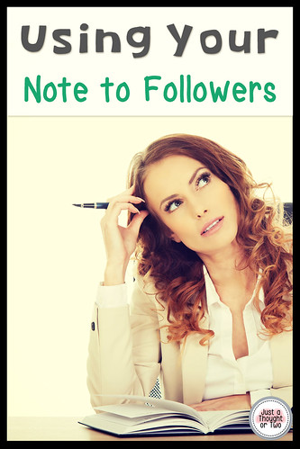 Using Your TPT Note to Followers