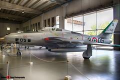MM52-7458 3-05 - - Italian Air Force - Republic RF-84F Thunderflash - Italian Air Force Museum Vigna di Valle, Italy - 160614 - Steven Gray - IMG_0796_HDR