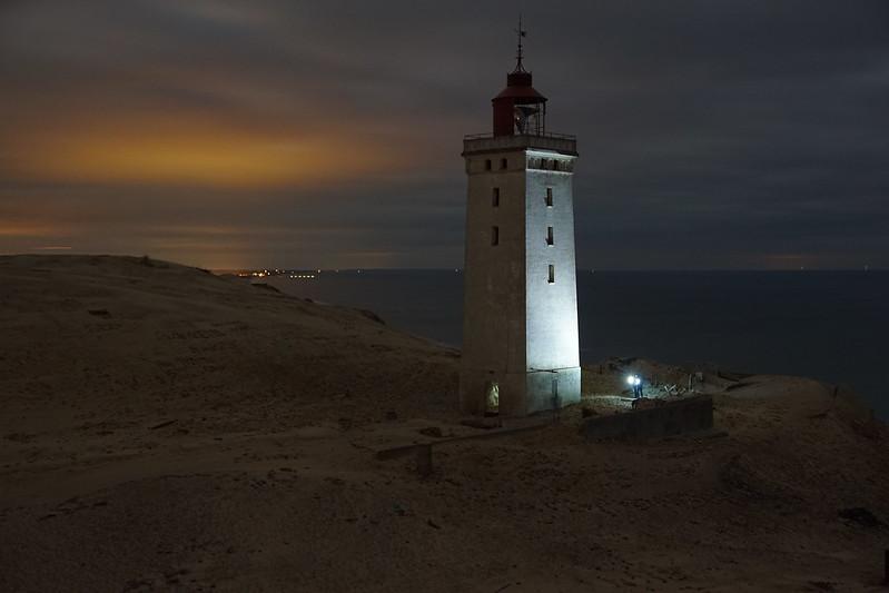 Rudbjerg Knude bei Nacht