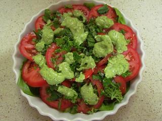 Fresh Tomato Salad; Oh-My-Goddess Dressing