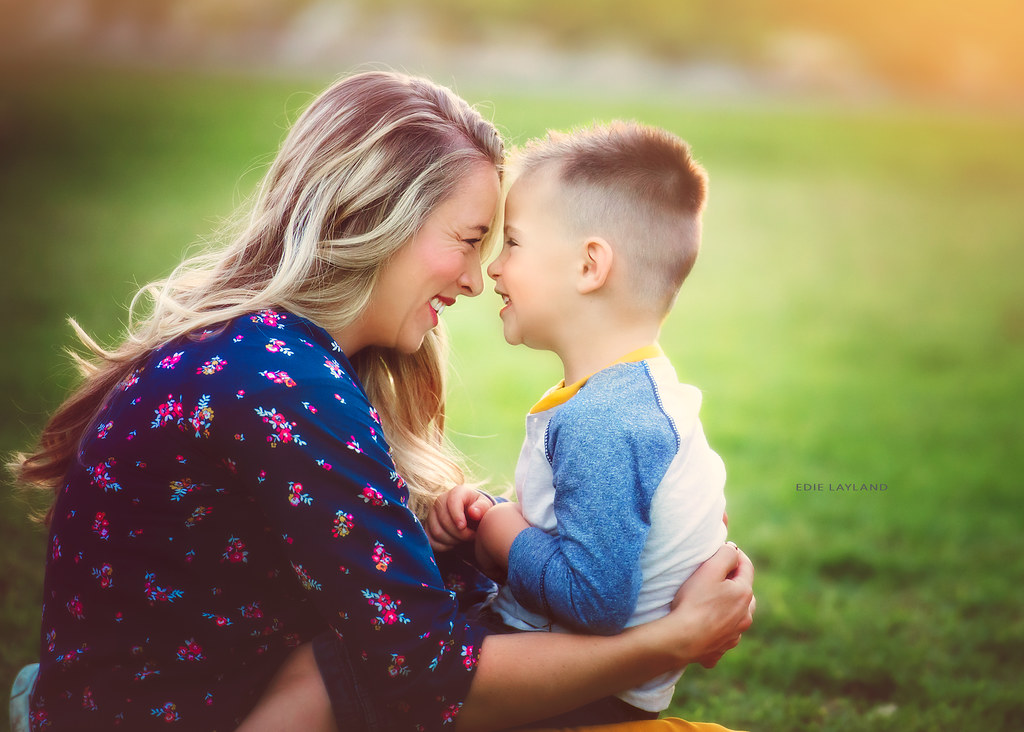 Mom Son Together Time By Edie Layland